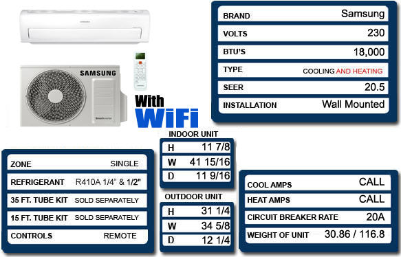 Samsung Smart Whisper Ar18kswsjwkxcv 18 000 Btu Mini Split