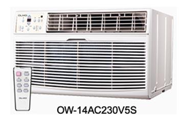 olmo ow 14ac230v5s 14 000 btu cool only window wall air conditioner 230 volt olmo ow 14ac230v5s. Black Bedroom Furniture Sets. Home Design Ideas